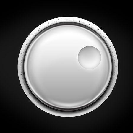 Volume regeling op de zwarte achtergrond. 2D illustratie. Computer Designe