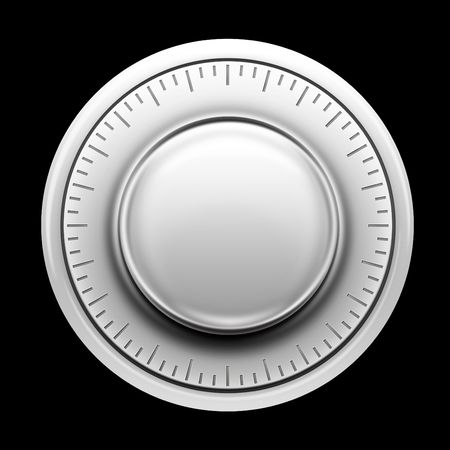 Thermostat on the Black background. 2D artwork. Computer Designe Stock Photo - 5766310