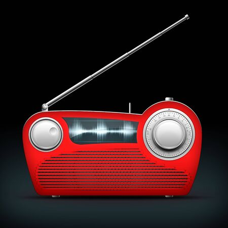 Old Style Radio on the black background. Computer Designe, 2D Graphics Stock Photo - 5807676