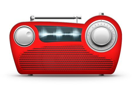 Old Style Radio on the White background. Computer Designe, 2D Graphics Stock Photo - 5807674