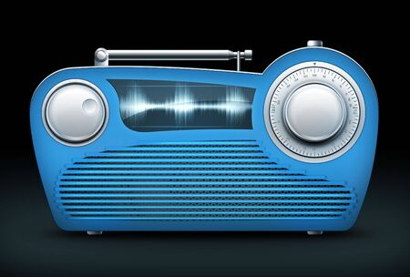Old Style Radio on the Black background. Computer Designe, 2D Graphics Stock Photo - 5869353