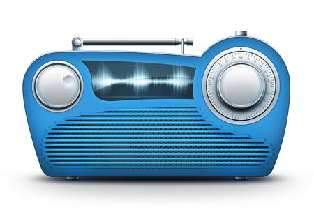 Old Style Radio on the White background. Computer Designe, 2D Graphics Stock fotó