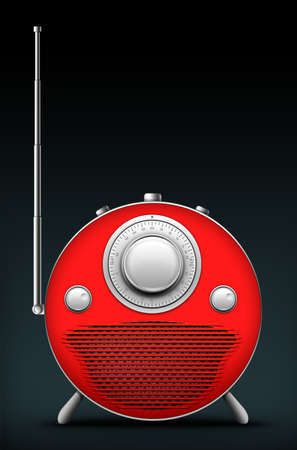 Old Style Radio on the Black background. Computer Designe, 2D Graphics Stock Photo - 5869345
