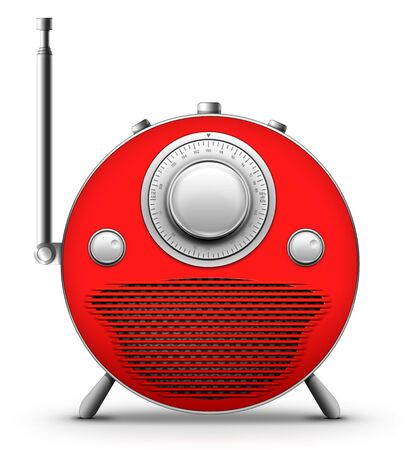 Old Style Radio on the White background. Computer Designe, 2D Graphics Stock Photo - 5869346