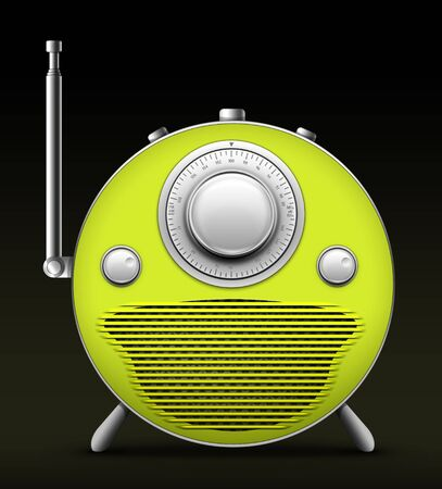 Old Style Radio on the Black background. Computer Designe, 2D Graphics Stock Photo - 5869347