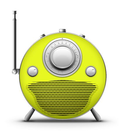 designe: Old Style Radio on the white background. Computer Designe, 2D Graphics