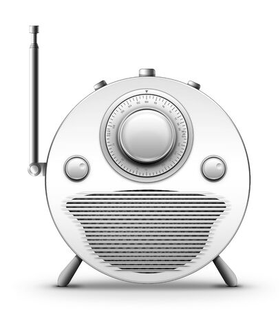 Old Style Radio on the white background. Computer Designe, 2D Graphics Stock Photo - 5869349