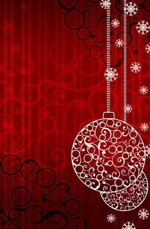 Christmas and New Year background. 2D graphic. Computer Design. photo