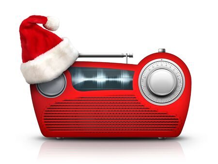 Old Style Radio on the White background. Computer Designe, 2D Graphics Stock Photo - 5887147
