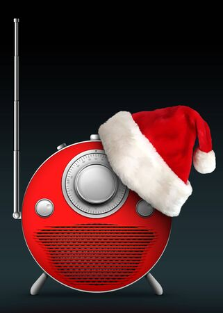 Old Style Radio-New Year and Christmas style. Computer Designe, 2D Graphics Stock Photo - 5887152