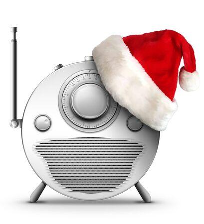 designe: Old Style Radio Christmas and New Year Radio Style. Computer Designe, 2D Graphics