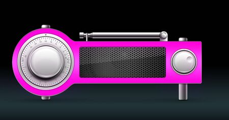 Old Style Radio on the Black background. Computer Designe, 2D Graphics Stock Photo - 5887133