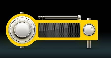 Old Style Radio on the Black background. Computer Designe, 2D Graphics Stock Photo - 5887135