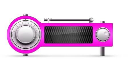 designe: Old Style Radio on the Black background. Computer Designe, 2D Graphics