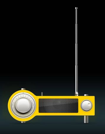 Old Style Radio on the Black background. Computer Designe, 2D Graphics Stock Photo - 5887142