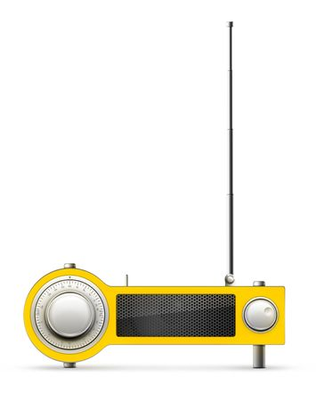 Old Style Radio on the background. Computer Designe, 2D Graphics Stock Photo - 5887137