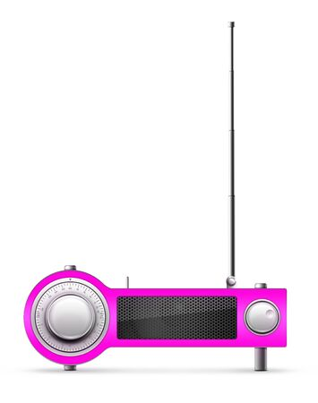 designe: Old Style Radio on the background. Computer Designe, 2D Graphics
