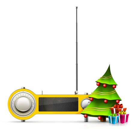 New year and Xmas Radio on the background. Computer Designe, 2D Graphics Stock Photo - 6008329