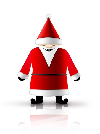 Christmas and New Year background. Santa Claus. 2D graphic. Computer Design. Stock Photo - 6008340