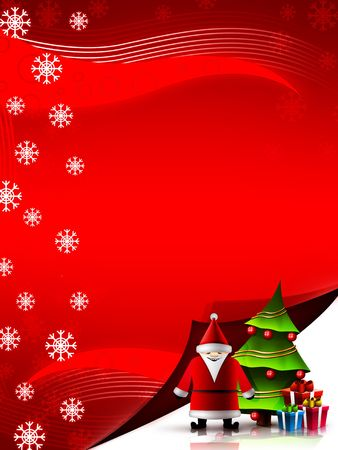 Christmas and New Year background. 2D graphic. Computer Design. Stock Photo - 6008345