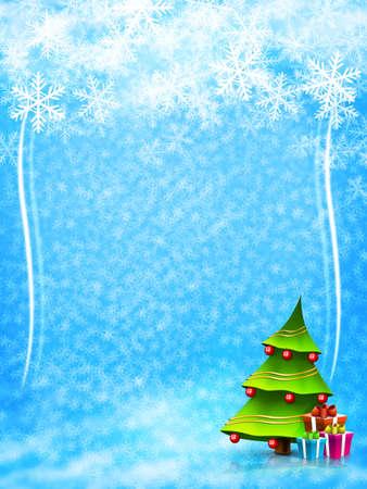 クリスマスと新年の背景。2D グラフィック。コンピュータ デザイン。
