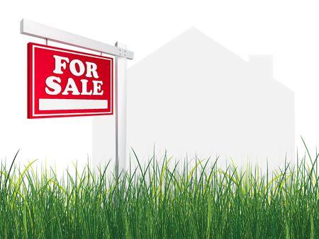 Real Estate Sign – For Sale. 2D artwork. Computer Design. Stock Photo - 6523627
