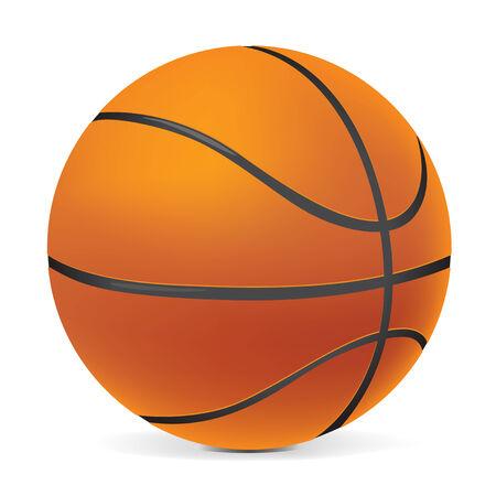 バスケット ボール。コンピュータ デザイン。  イラスト・ベクター素材
