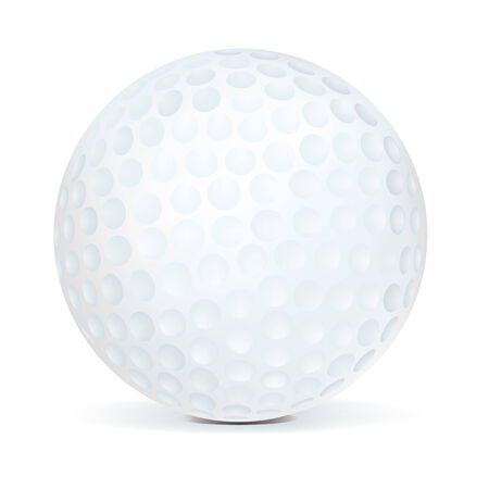 isolated: Golf Ball isolated on white background.