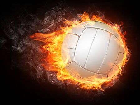 hell: Volleyball Ball on White Background.  Stock Photo