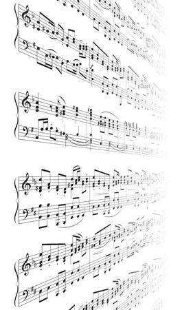 Music Notes Texture Stok Fotoğraf - 8525414