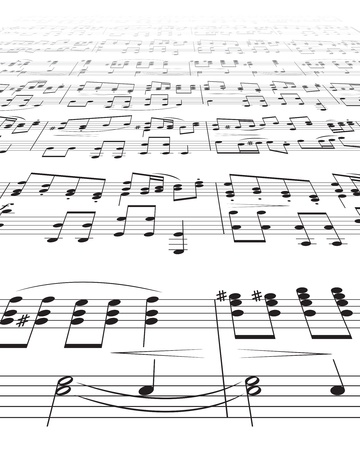 Music Notes Texture Stock Vector - 8525413