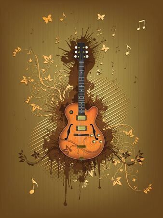 Retro Electric Guitar