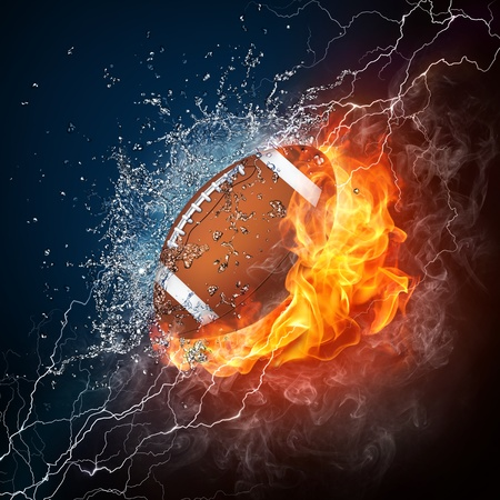 burning: Football Ball