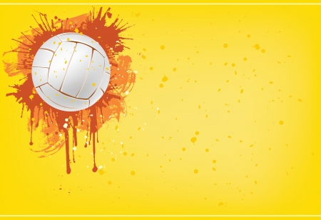 modern background: Volleyball ball