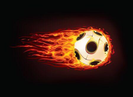palla di fuoco: Pallone da calcio Vettoriali