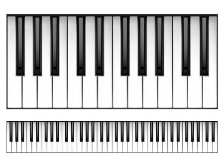 piano: Teclado de piano Vectores