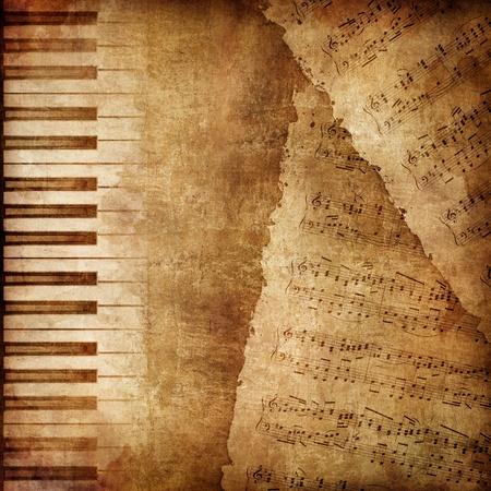 fortepian: Stare tekstury papieru