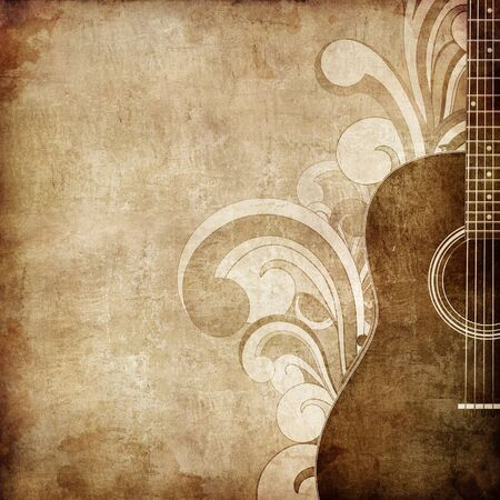 retro music: Old Paper Texture
