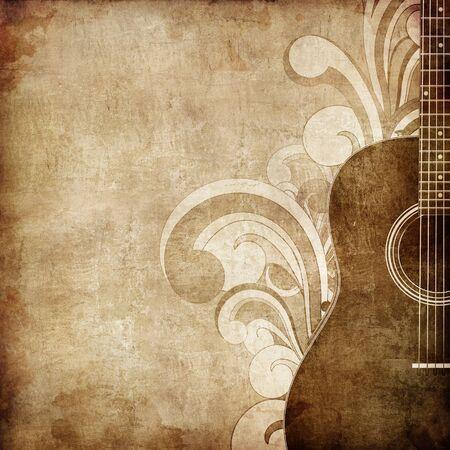 gitara: Stare tekstury papieru