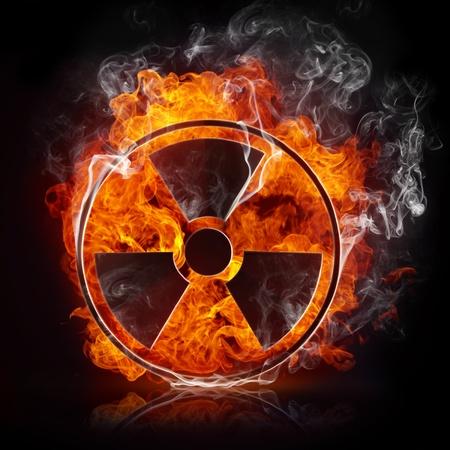 radiactividad: Radiaci�n de signo Foto de archivo