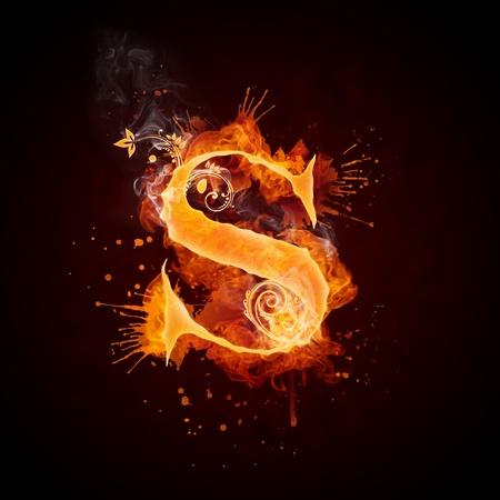 Feuer Windung Buchstabe S Standard-Bild - 9329615