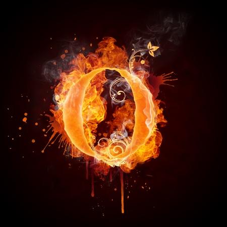Fire Swirl Letter O