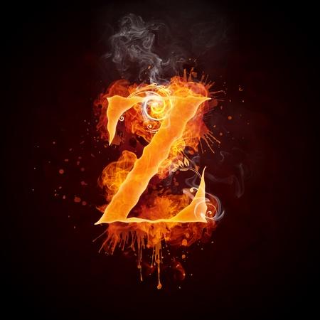 swirl: Fire Swirl Letter Z