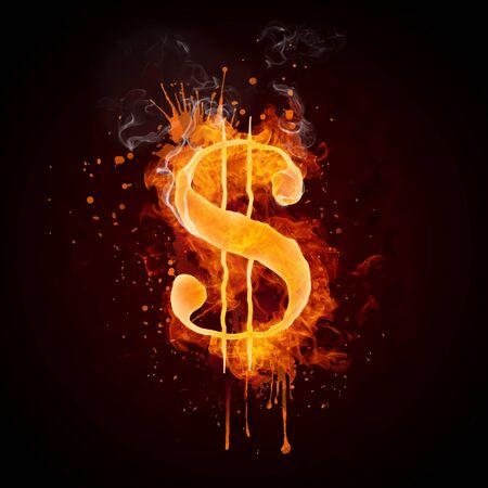 Dollar in Fire Reklamní fotografie