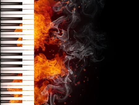 Klaviertastatur Standard-Bild - 9337218