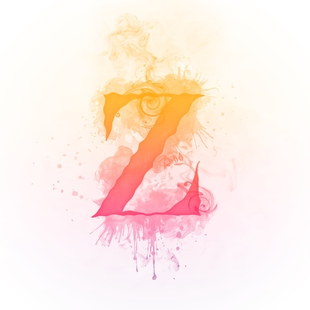 burning: Fire Swirl Letter Z