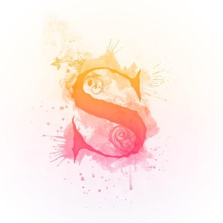 Sunny Swirl Letter S