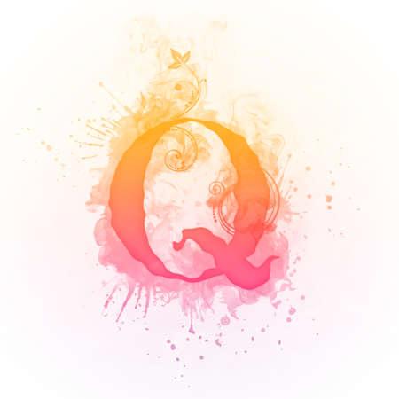 Sunny Swirl Letter Q