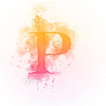 swirl: Sunny Swirl Letter P