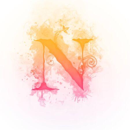 letter: Sunny Swirl Letter N